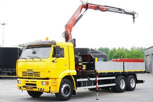 KAMAZ 65117 , 6x4 , Crane Fassi 95 , rotator , box 6m avolavakuorma-auto