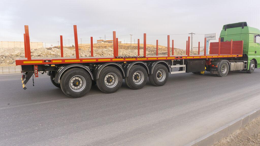 uudet STU Container Carrier Flatbed Trailer avolava puoliperävaunu