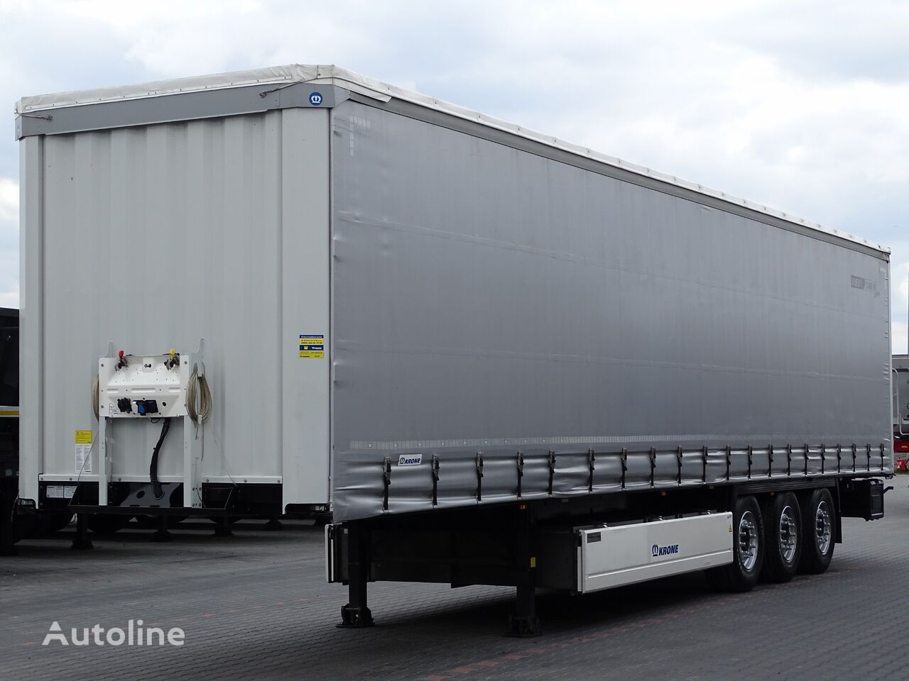 KRONE CURTAINSIDER / STANDARD / LIFTED AXLE / PALLET BOX / PERFECT / S liukukapelli puoliperävaunu