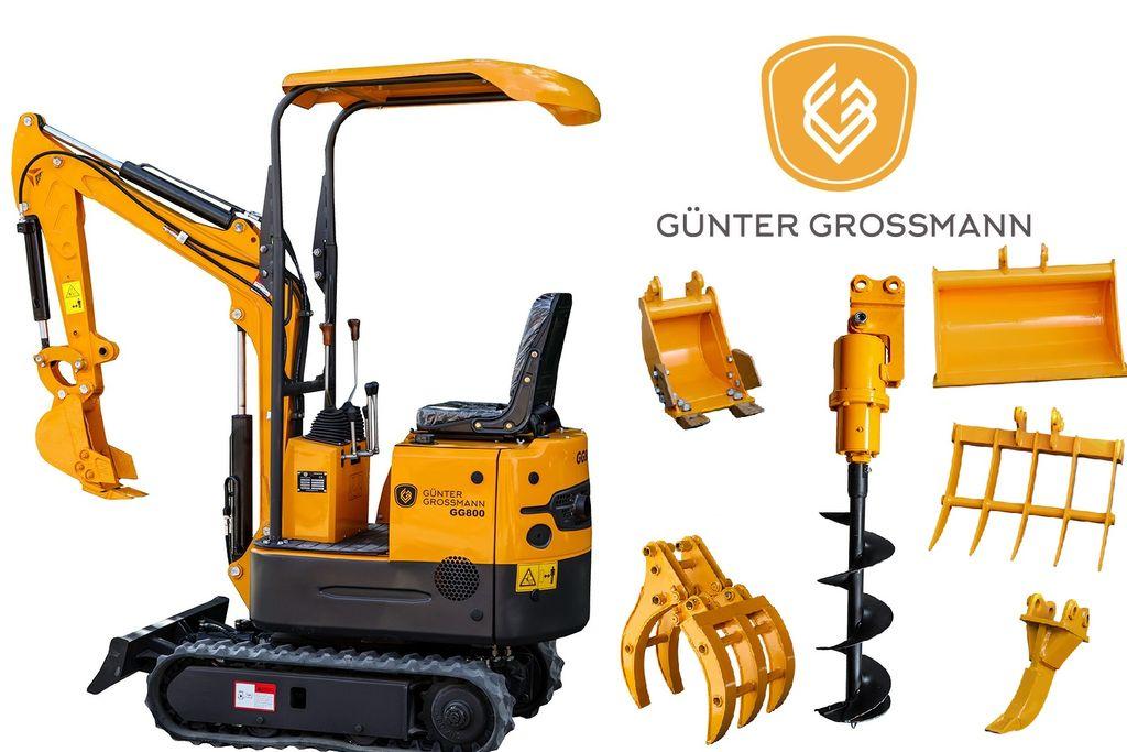 uudet Günter Grossmann GG800 Minikoparka + Akcesoria - Mini koparka  minikaivinkone