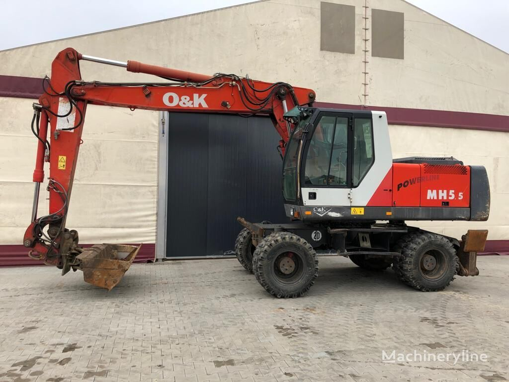O&K MH 5.5 pyöräalustainen kaivinkone