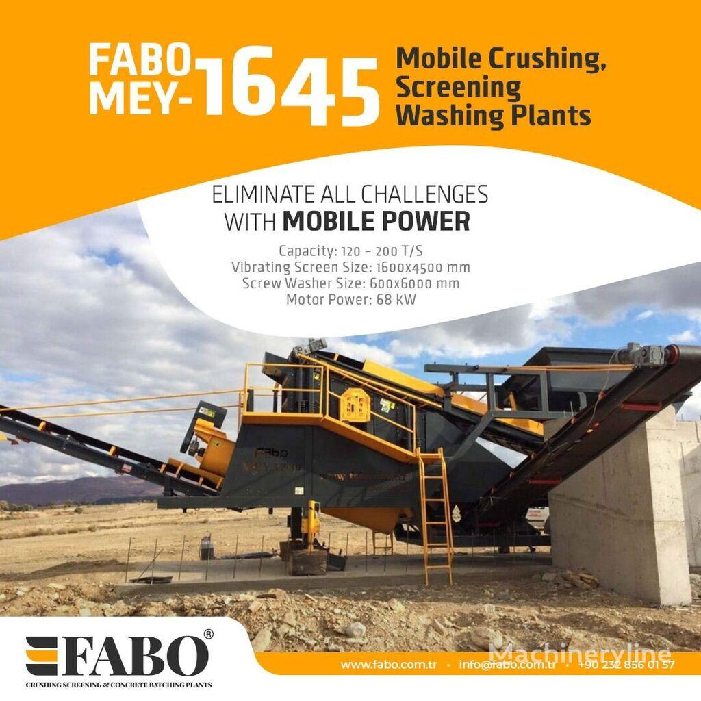 uudet FABO MEY 1230 TPH MOBILE SAND SCREENING & WASHING PLANT siirrettävä murskaamo