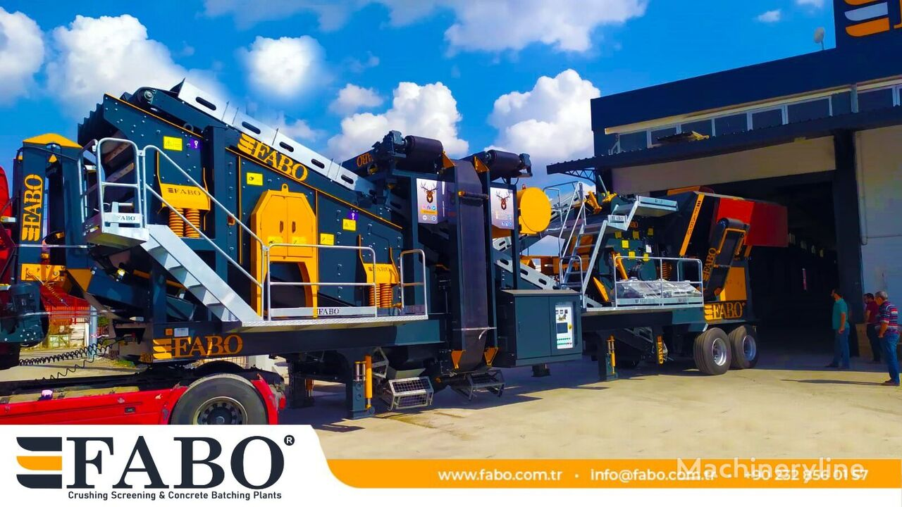 uudet FABO PRO 90 MOBILE CRUSHING&SCREENING PLANT | 90-130 TPH siirrettävä murskaamo