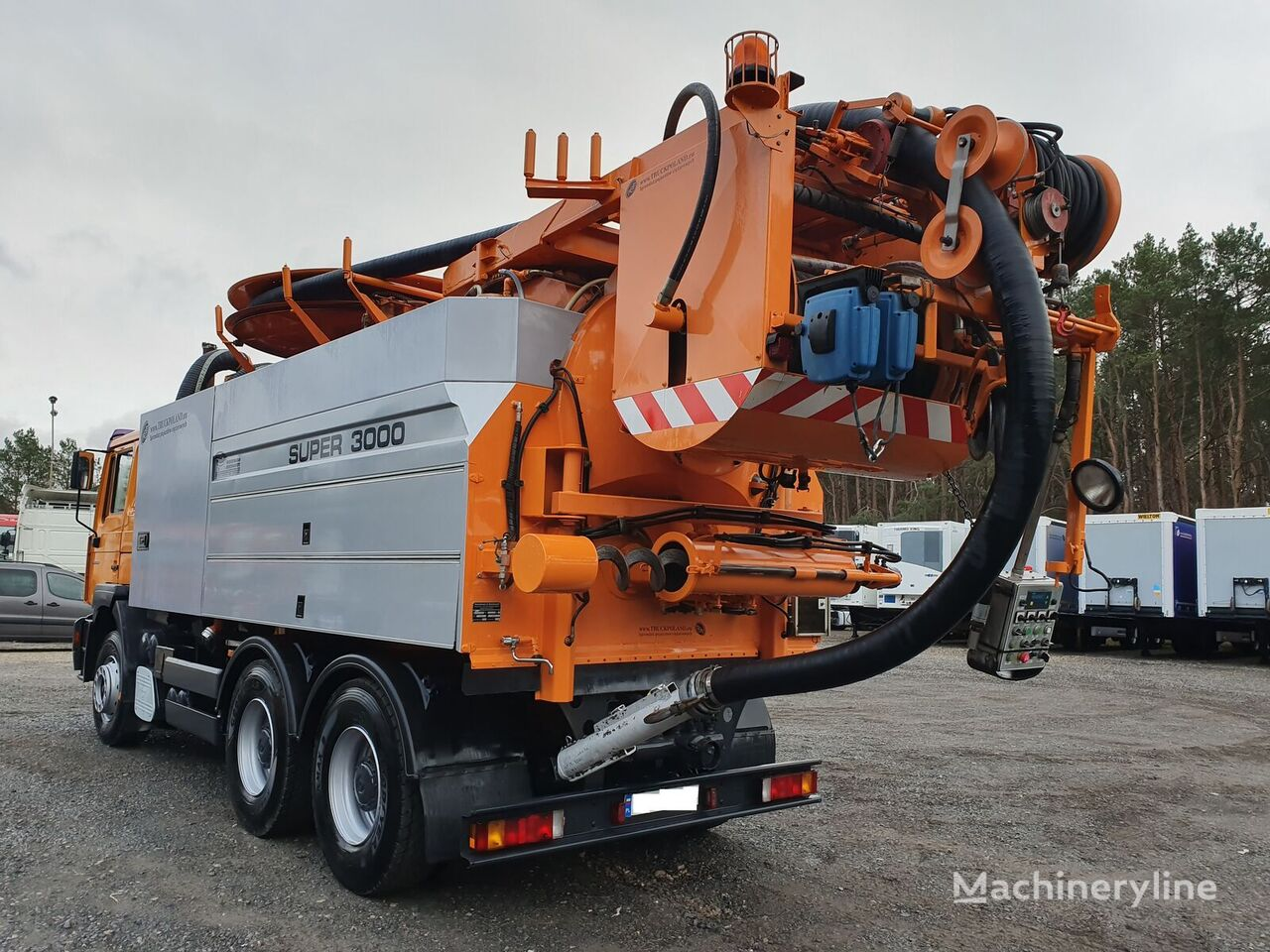 MAN FE 33.460 Wiedemann & Reichhardt Super 3000 z recyklingiem yhdistelmä viemäri auto